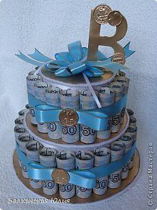 Денежный тортик.   Страна Мастеров Money Cake, Diy And Crafts, Paper Crafts, Money Plant, Candy Bouquet, Planting Flowers, Happy Birthday, Packing, Baby Shower
