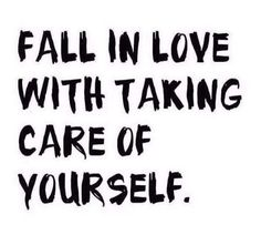 Important to remember that it's not about losing weight or bikini season, it's about taking care of yourself!