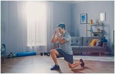 Top 10 Best Glutes Exercises for Beginners - Male-Performing-Split-Squat-In-Living-Room-Home-Gym thumbnail Best Dumbbell Exercises, Dumbbell Workout, Sport Fitness, Muscle Fitness, Health Fitness, Workout Playlist, Chia Benefits, Health Benefits, Sport Studio