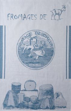 Coucke Fromages de Chevre (Goat Cheese) French Dish Towel