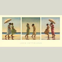 Jack Vettriano's Summer Days Triptych via HeartbreakPublishing.com