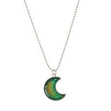 Crescent Moon Pendant Mood Necklace