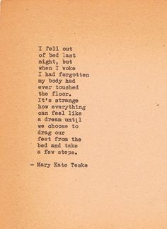 Typewriter Poem #136 | Mary Kate Teske