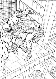 SpiderMan coloring pages 9 / SpiderMan / Kids printables coloring