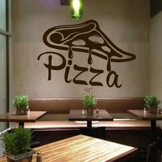 Wall Decal Vinyl Sticker Decals Art Decor Design Pizza interior Pizzeria Resaurant Italy Kitchen Food inscription signboard Fun M1527 DecorWallDecals http://www.amazon.com/dp/B00Z6IXLWU/ref=cm_sw_r_pi_dp_e8xDvb0WVKB8S