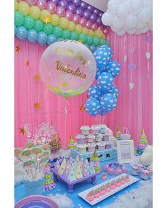 1st Birthday Parties Birthdays Love Rain Unicorn Party Toddler Boy Rainbows Kids Part Girls Rainbow Decorations