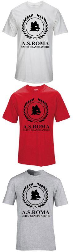 T-Shirt ROMA ROME AS ULTRA ITALIA italie Associazione Sportiva AS Roma fans Camiseta Serie A Totti Red Wolf El Shaarawy Perotti