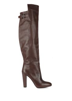 L'enfant Terrible - Tank Girl Brown leather overknee boots