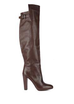L'enfant Terrible - Tank Girl Brown leather overknee boots