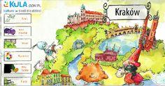 Krakow Polish Language, Krakow, Kids Education, Kindergarten, Comics, Books, Fictional Characters, Multimedia, Homeschooling