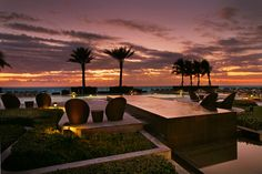 The jaw-dropping view overlooking Hollywood Beach from Trump Hollywood's infinity pool deck.
