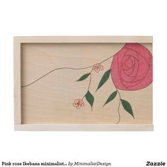 Pink rose Ikebana minimalist large keepsake boxA large keepsake box made of natural birch wood is awaiting for you to store your most cherished memories: old printed photos, CDs since childhood, heirloom jewelry, your first diary, you name it! You could even turn it into a time capsule and open it in 10-20-30 years in the future! Copyright © 2017, Anca Ioviţă #minimalistdesign #minimalistdesigner #zazzle #pink #rose #Ikebana #minimalism #keepsake #box #timecapsule