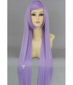 Lucky Star Kagami Hiiragi Long Purple Cosplay Wig  - Lucky Star Cosplay - Anime Halloween Cosplay Hair - Trustedeal.com