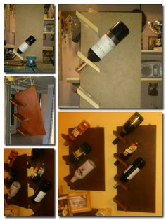 Wine rack made from the palette. #DIY