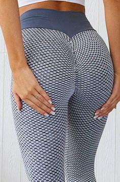 Women Push Up Yoga Pants High Waist Ruched Leggings 3D Sports Fitness Workout D5