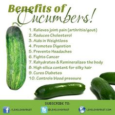 There are numerous health benefits of cucumber. It relieves joint pain, reduces cholesterol, help in losing weight, promotes digestion and re-hydrates the body. Health And Nutrition, Health And Wellness, Health Fitness, Health Care, Health Facts, Wellness Tips, Health Yoga, Cheese Nutrition, Nutrition Guide