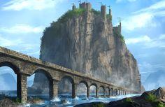Mountain Castle by ~JoakimOlofsson