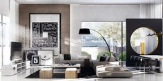 Mimar Interiors.  Like sofa and lamp for living room.