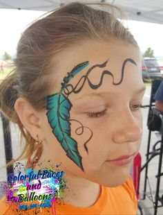 Feather face painting, #Colorfulfacesandballoons, #facepainter, #balloontwister, #holidayfacepainter, #4thofjulyfacepainter, #facepaintinginriversidecounty, #facepaintingininlandempire, #balloontwisterinriversidecounty, #balloontwisterininlandempire. www.colorfulfacesandballoons.com (909)-855-6624 Balloon Painting, 4th Of July, Balloons, Projects To Try, Feather, Colorful, Face, Faces, Globes