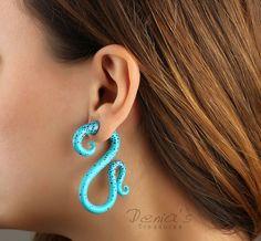 Polymer Clay Fake Gauge Earrings