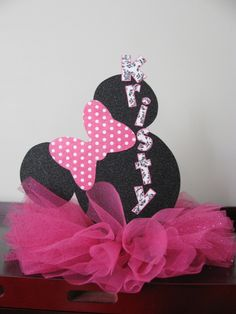 minnie centerpiece- I am doing this for Emily's Shower!!!