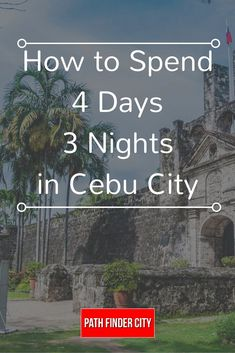 a Cebu Itinerary is not enough to squeeze all the amazing adventures you can do in the province, we've come up with one that will allow you to experience the best of the best! Cebu Philippines Travel, Visit Philippines, Philippines Beaches, Philippine Tours, Philippine Holidays, Cebu City, Bohol, Palawan, Travel Advice