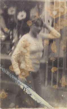 "Czech artist Miroslav Tichý.  Technically, his pictures are full of mistakes that compound the built-in limitations of his equipment: underexposed or overexposed, out of focus, blemished by dust in the camera, stained by careless darkroom processing.Tichý explains, ""A mistake. That's what makes the poetry."" Tichý made his equipment from materials at hand."