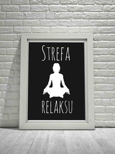Yoga Pose Poster Print Yoga Poster Yoga Wall Art Yoga Wall Hanging Poland Wall Art Polish Wall Hanging Polish Poster Polish Language Polska