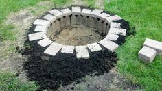 New in ground fire pit