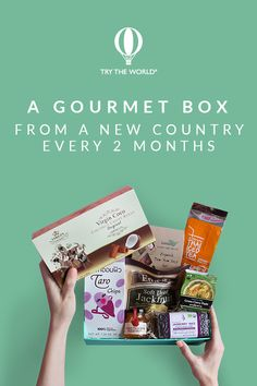 Travel around the world with Try The World! Every month, receive a gourmet box from a different country. Carefully crafted by expert chefs, each box contains 7 to 8 local products that let you explore and experience different foods and cultures. Subscribe today to receive your France Box and a FREE Spain Box.