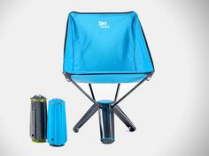 The Treo Chair delivers the comfort and ease of use of a big chair. It packs into its own tripod base and as easy to bring along, as it is to relax in.