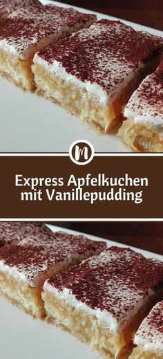 Express Apfelkuchen mit Vanillepudding Ingredients For the dough: 150 g flour 1 tsp baking powder 65 g sugar 1 egg 65 g butter For the [. Easy Smoothie Recipes, Easy Smoothies, Easy Cake Recipes, Snack Recipes, Vanilla Pudding Desserts, Custard Desserts, Cinnamon Cream Cheeses, Pumpkin Spice Cupcakes, Icing Recipe
