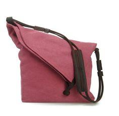 Red Canvas Bag Shoulder Bag Messenger Bag 13'' laptop IPAD Bag -6631