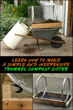 The average gardener or DIYer doesn't need a full size motorized sifter. This is a great alternative as it is smaller, easy to build, and affordable. Compost Soil, Garden Compost, Gardening, Garden Crafts, Garden Projects, Garden Tools, Garden Mulch, Garden Beds, Types Of Farming