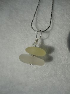 Drilled and stacked yellow and white sea by atreasurefromthesea, $29.99