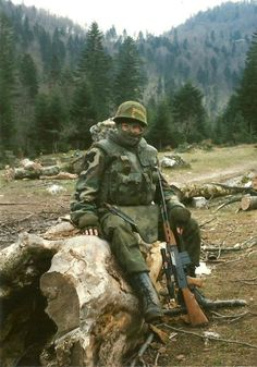 Serbian soldier with a M76 sniper rifle.