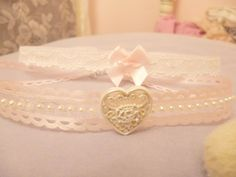 DIY Hime Gyaru Lace/Ribbon Chokers ~You will need: *Flat lace ribbon (or any kind of ribbon, for that matter) *Jewelry jump rings *Jewelry closure/ clasp *Jewelry chain *Misc decorations