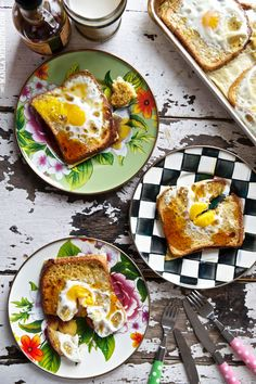 Baked Egg (Toad in the Hole) French Toast | FamilyFreshCooking.com