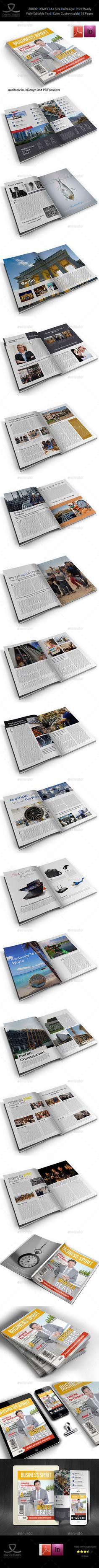Business Spirit Newsletter Magazine - 32 Pages Template   #magazinetemplate   Download: http://graphicriver.net/item/business-spirit-newsletter-magazine-32-pages-v2/9661881?ref=ksioks
