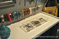 lots of jewelry organization diy ideas