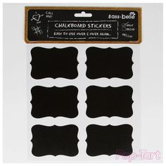 12 Vintage Style Blackboard Chalk Board Reusable Stickers Glass Jar Craft Labels in Home, Furniture & DIY, Home Decor, Wall Decals & Stickers | eBay