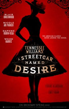 "Can't wait for it to come here!: Revived Broadway version of the classic Tennessee Williams play, ""A Streetcar Named Desire"" starring Blair Underwood as Stanley and Nicole Ari Parker as Blanche"