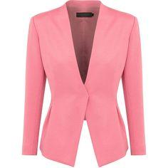 Donna Karan Stretch Twill Jacket ($2,200) ❤ liked on Polyvore