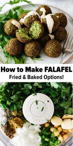 Are you ready for the best falafel you've ever tasted? Falafel are delicious balls of chickpea and herb goodness that you find in Middle Eastern cooking. Lebanese Recipes, Greek Recipes, Indian Food Recipes, Whole Food Recipes, Vegetarian Recipes, Cooking Recipes, Healthy Recipes, How To Vegetarian, Meat Appetizers