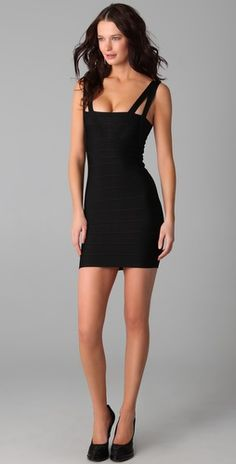 Someday I want to wear a beautiful Herve Leger (and have the body for it!).  So pretty.