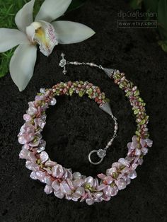 LeiStyle Pink Keshi Pearl Necklace Keshi Pearl by dlpCraftsman