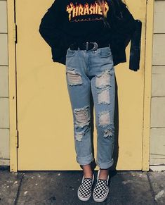 Thrasher Outfit – Best Outfits to Wear Edgy Outfits, Grunge Outfits, Jean Outfits, Outfits For Teens, Summer Outfits, Summer Concert Outfits, Indie Concert Outfit, Hipster Outfits, Vintage Outfits