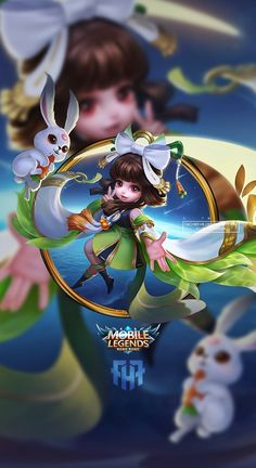 Wallpaper Phone Chang'e Moon Palace Immortal by FachriFHR on DeviantArt Wallpaper Hp, Mobile Legend Wallpaper, Rabbit Wallpaper, Apple Wallpaper, Mobiles, Bruno Mobile Legends, Alucard Mobile Legends, Moba Legends, Golden Warriors