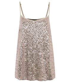 Pink Strappy Sequin Cami 8GBP