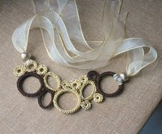 Champagne and Cocoa Necklace Free Shipping